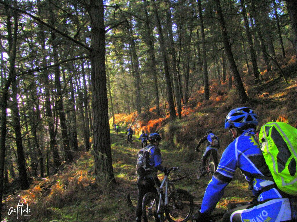 Prueba de bici en el monte Deva de Gijon